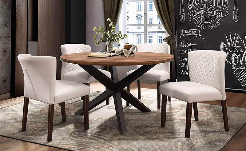 Minimalist Round Dining Tables Feature